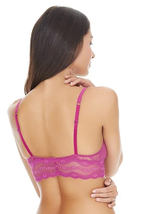Biustonosz nieusztywniany bez fiszbinów Pink Lace
