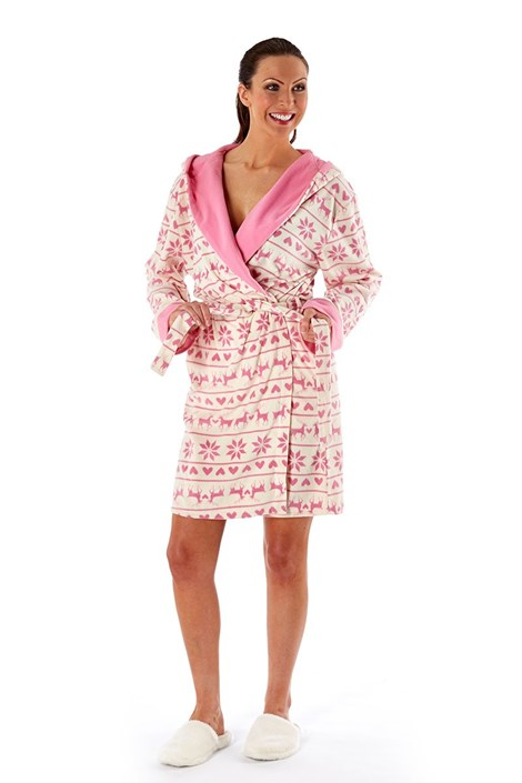 Damska piżama Hearty Winter Pink