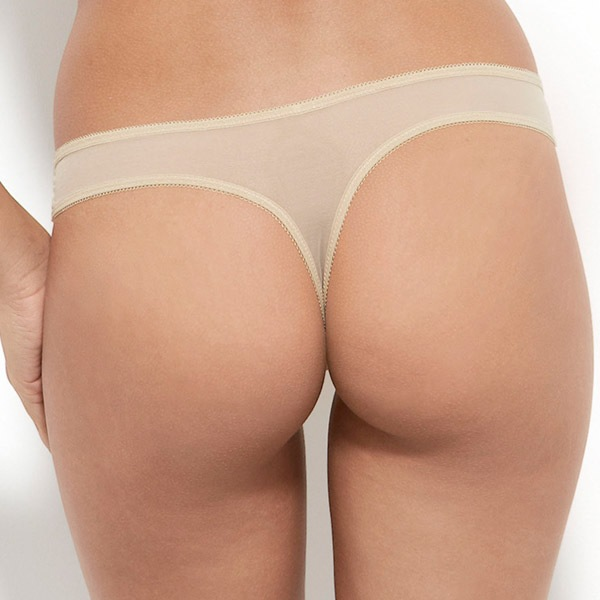 Koronkowe tanga Gossard Glossies Nude - 13006NUD_kal