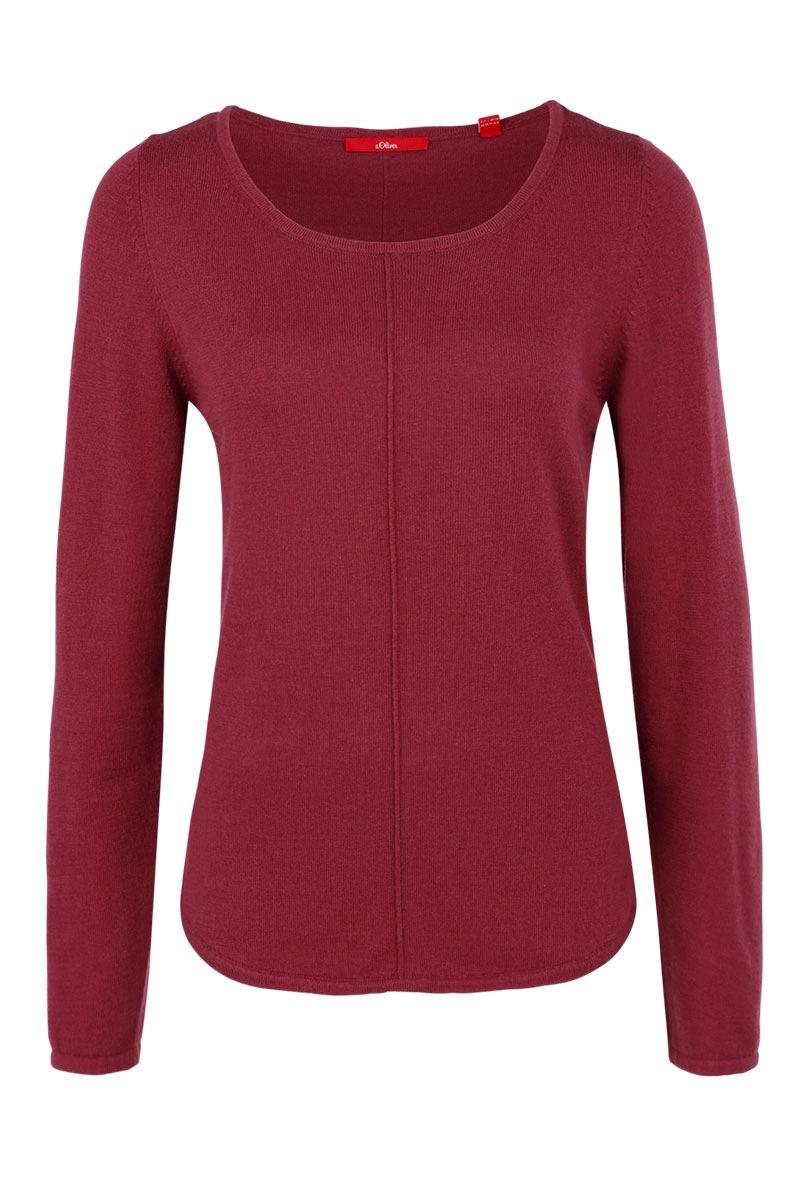 Damski jednokolorowy sweter s.Oliver - 14608618119