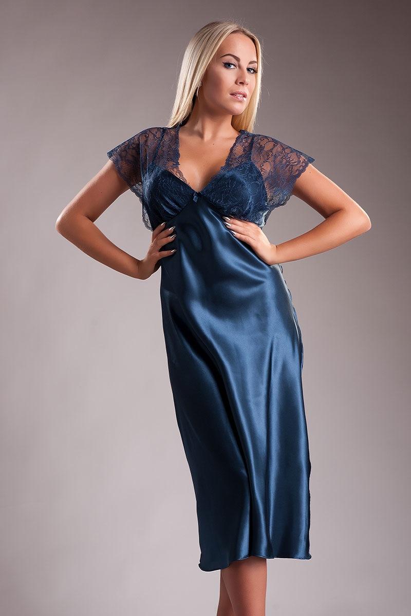 Elegancka długa satynowa koszulka Paris - 150914MIParis_kos