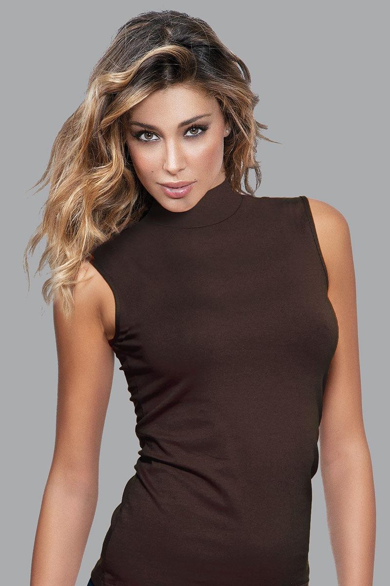 Damska koszulka bawełniana bez rękawów - 4058_tri