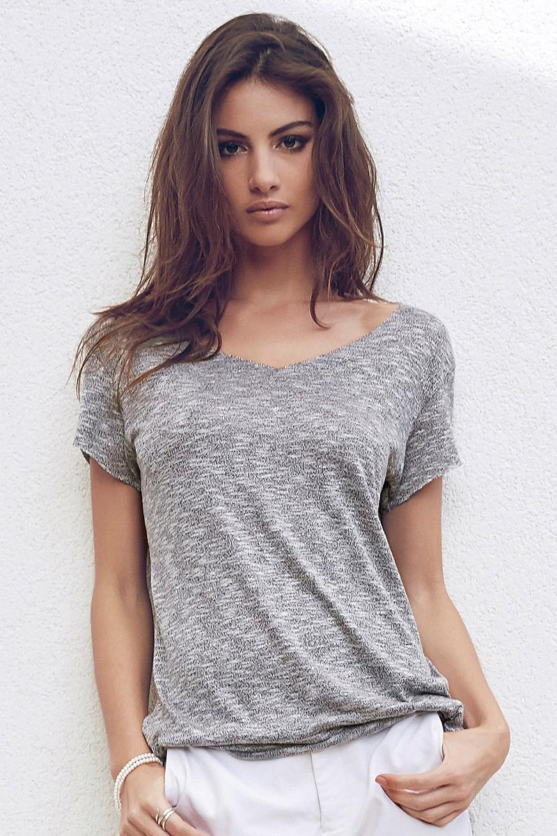Damski T-shirt Jineen Grey - 4654Grey_tri