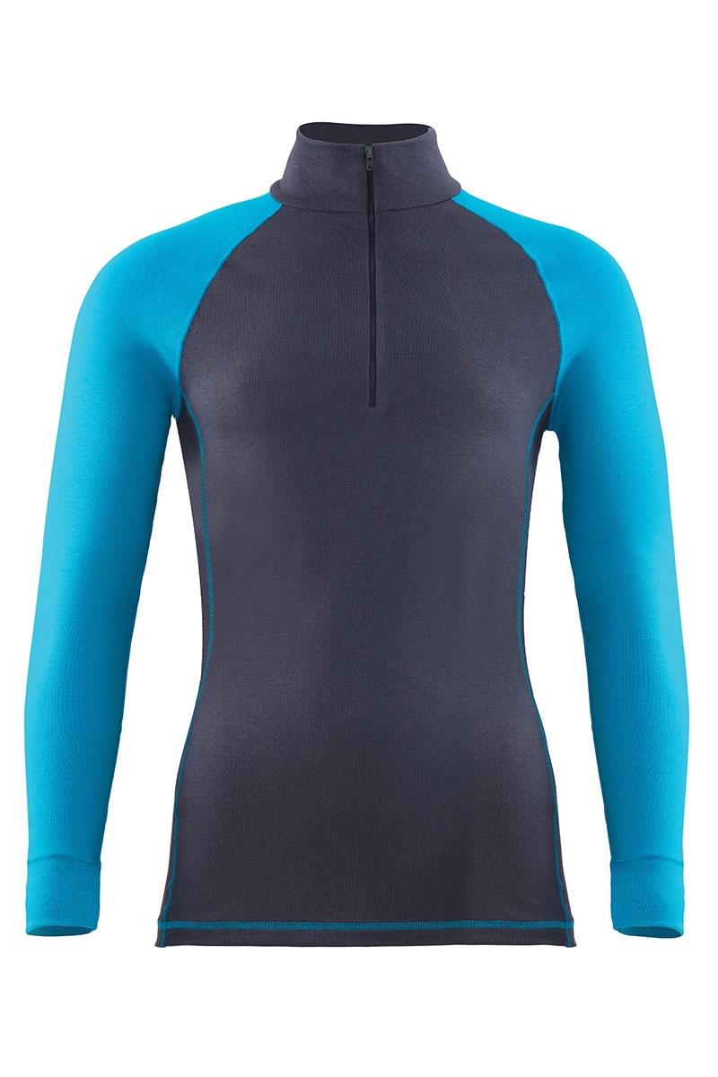 Męska koszulka funkcyjna Thermal Sports - 9246ZipTLS_tri