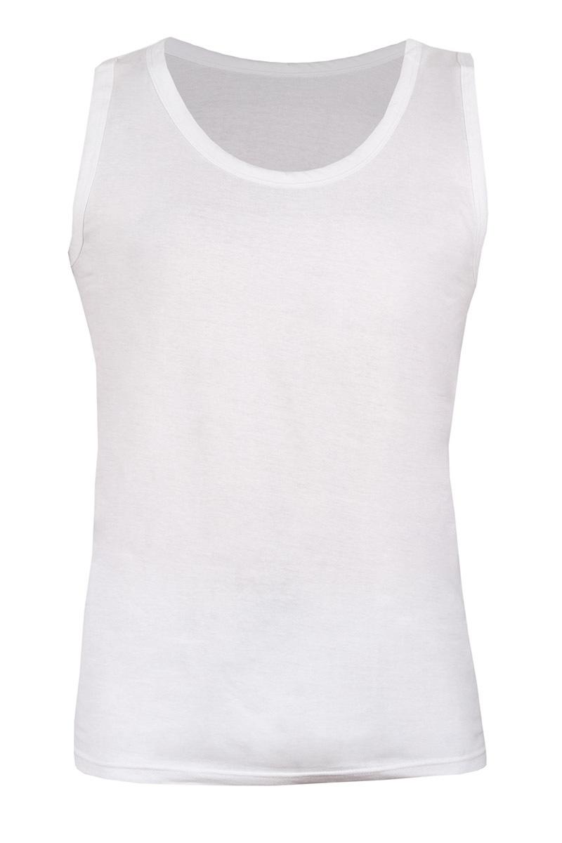 Męska koszulka bawełniana biała 089 - AU089White_kos