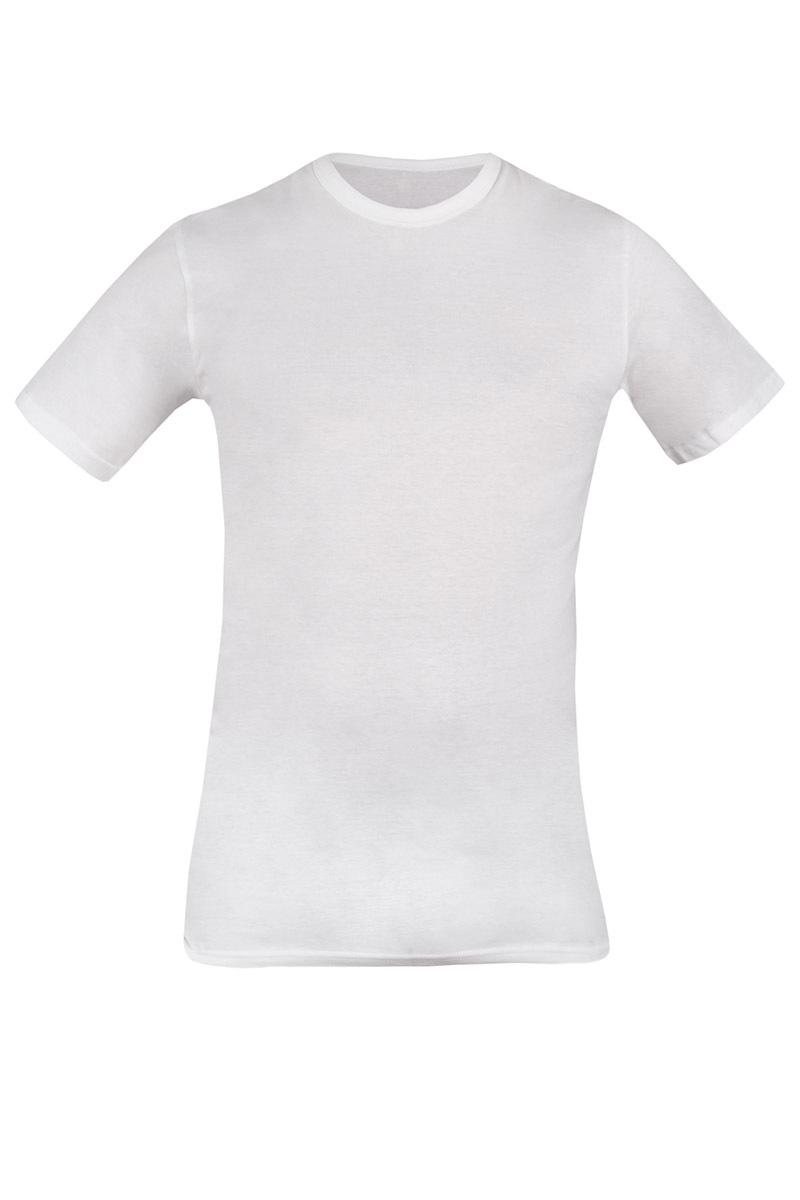 Bawełniany T-shirt męski biały 090 - AU090White_tri