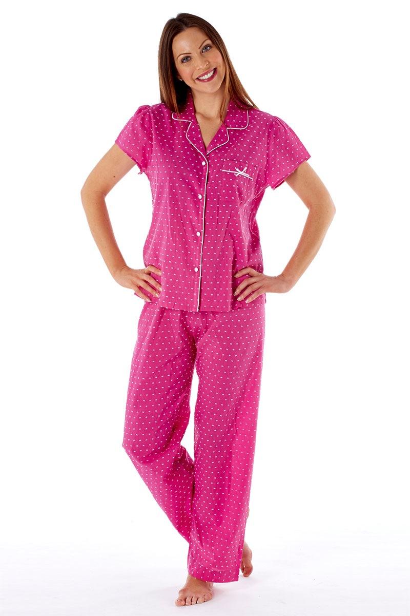Bawełniana piżama damska Amanda Pink - Amanda439R_pyz