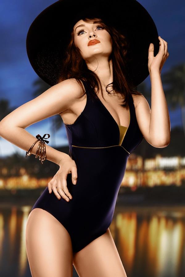 Damski kostium kąpielowy Anika - czarny jednoczęściowy - Anika4