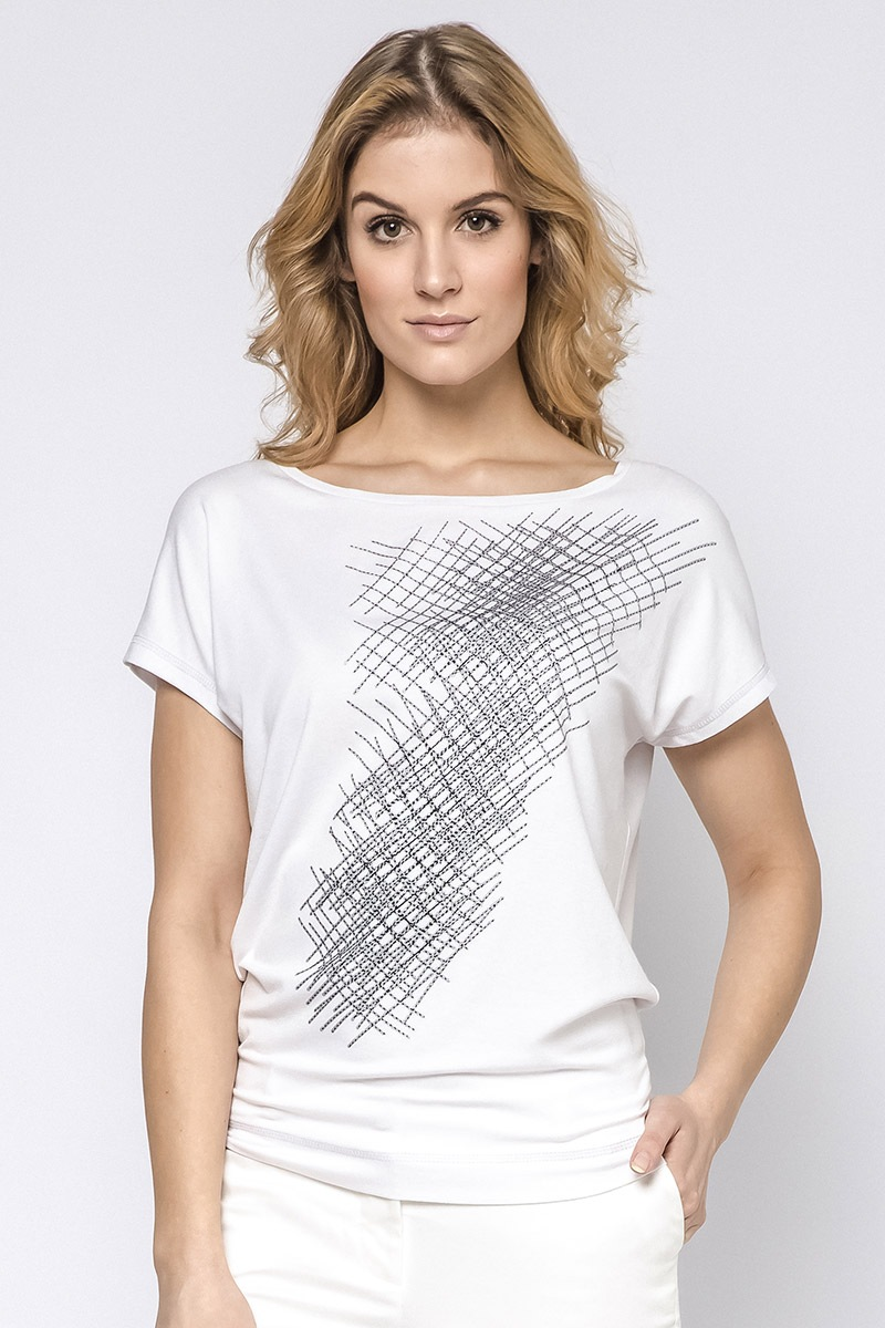 Elegancka damska bluzka z krótkimi rękawami Hettie - BL230118_tri