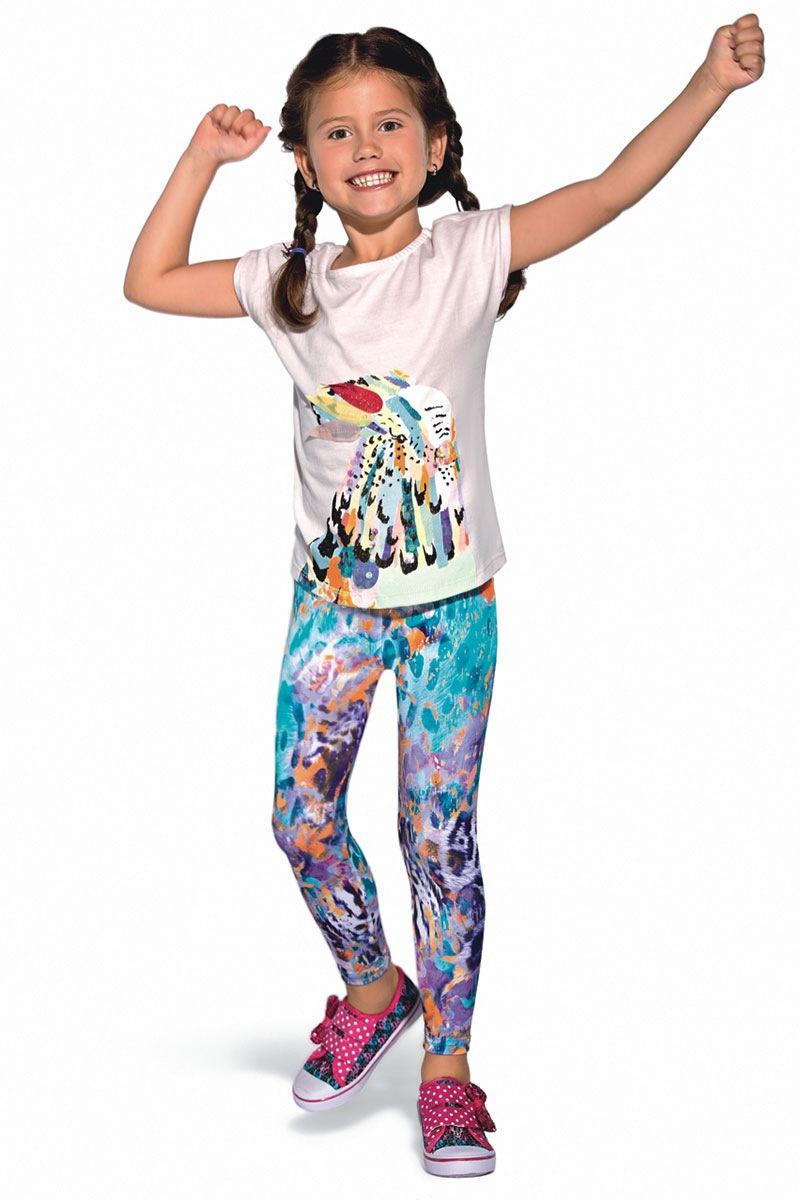 Kolorowe legginsy dziecięce Bibi - Bibi_leg