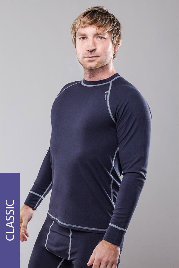 Koszulka męska termoaktywna Classic - szara - ClassicGreyM_tri