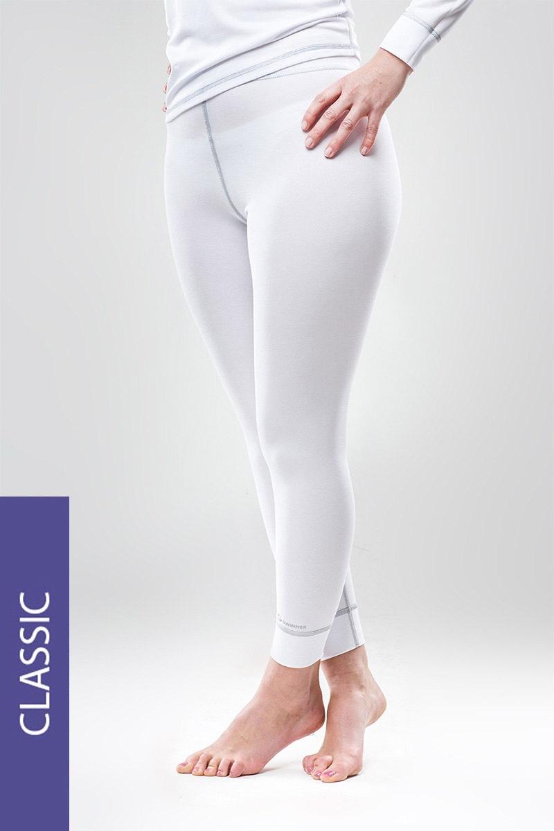 Spodnie termiczne Classic - białe - ClassicWhiteW_kal