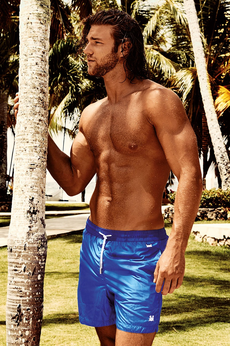 Luksusowe kąpielówki męskie Darius Blue - DM7008BluRoyal