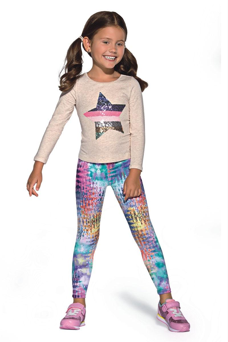 Kolorowe legginsy dziecięce Dixi - Dixi_leg