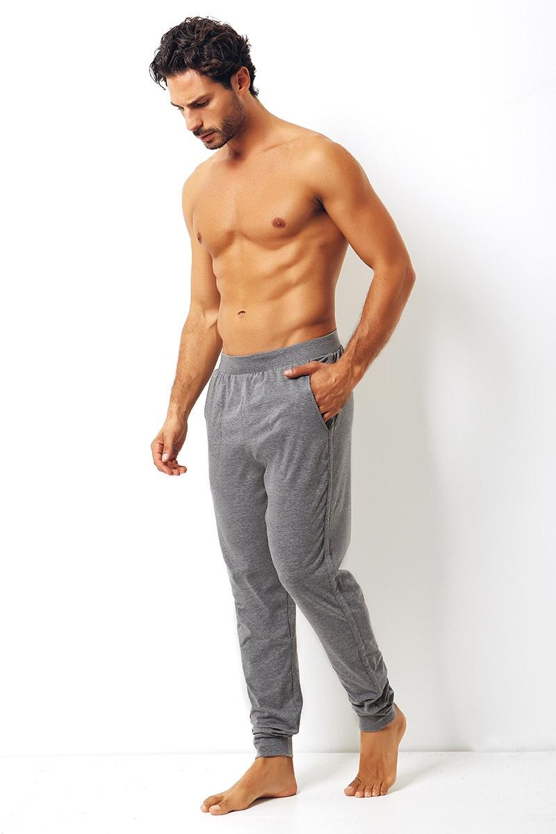 Męskie spodnie bawełniane Enrico Coveri szare - EA2000Grigio_kal