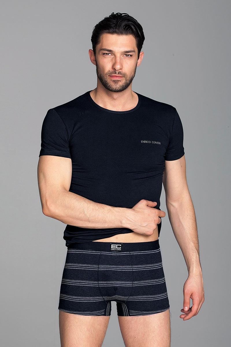 Komplet męski Alex2 - T-shirt, bokserki - EC1594Grigio_set