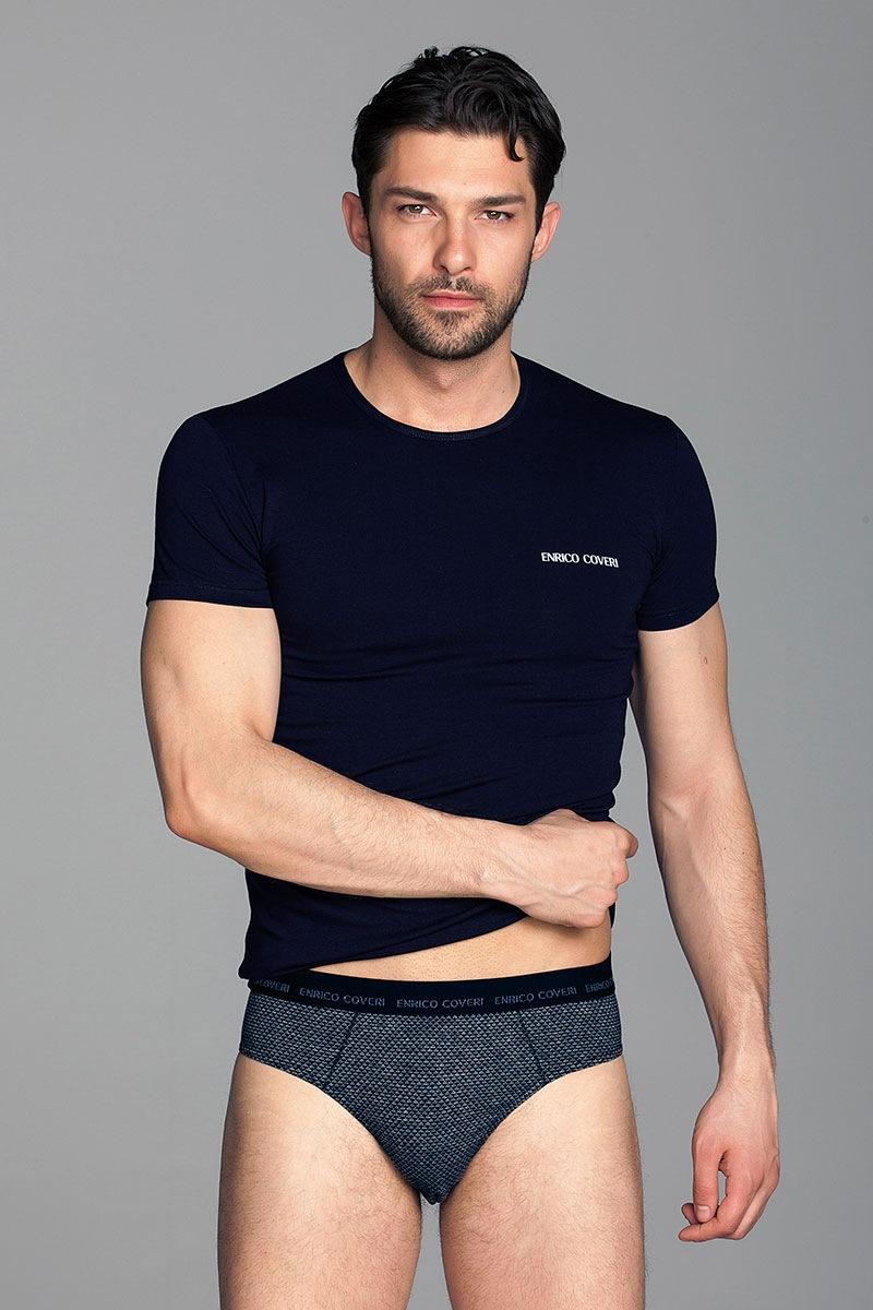 Komplet męski Fabio 1 - T-shirt i slipy - EC1606SBlu_set