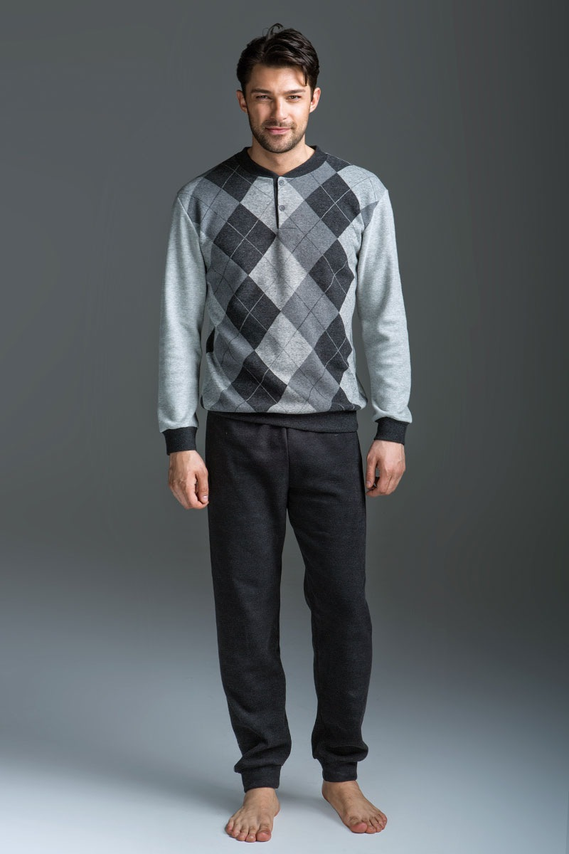 Komplet męski Allessio - bluza i spodnie - EP5013Antracite_set