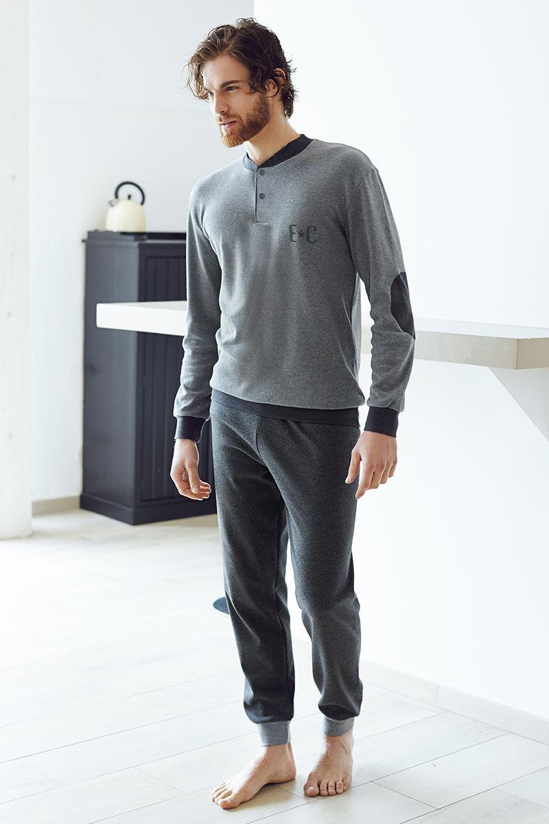 Męski dres bawełniany Angelo - szary - EP6029Grigio_set