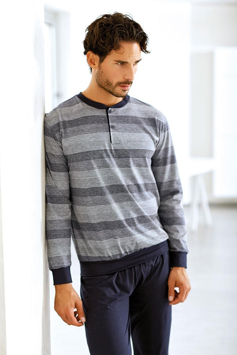 Męski komplet bawełniany Lucca - bluza, spodnie - EP8003Cobal_set