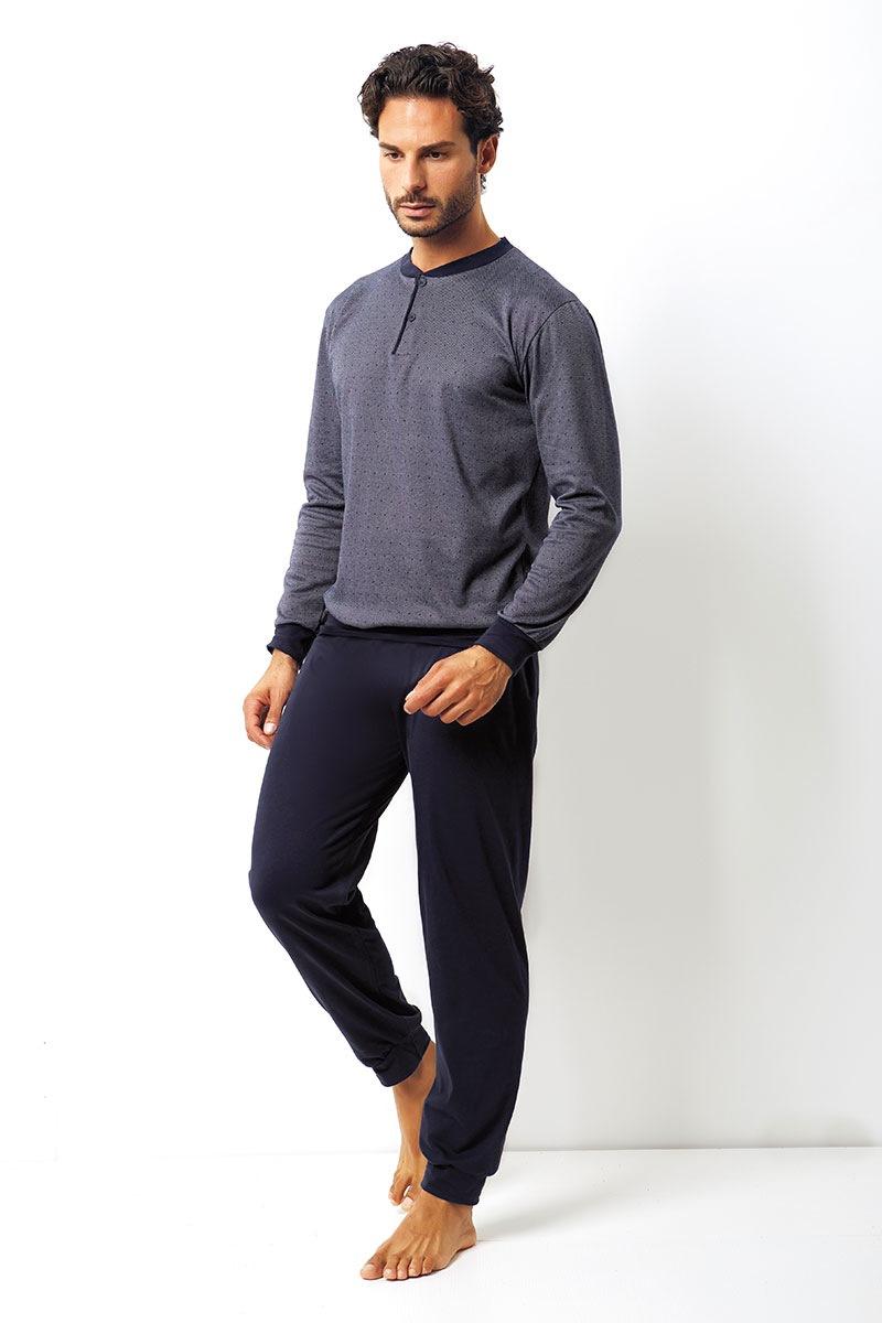 Męski komplet bawełniany Domenico - bluza, spodnie - EP8009Blue_set