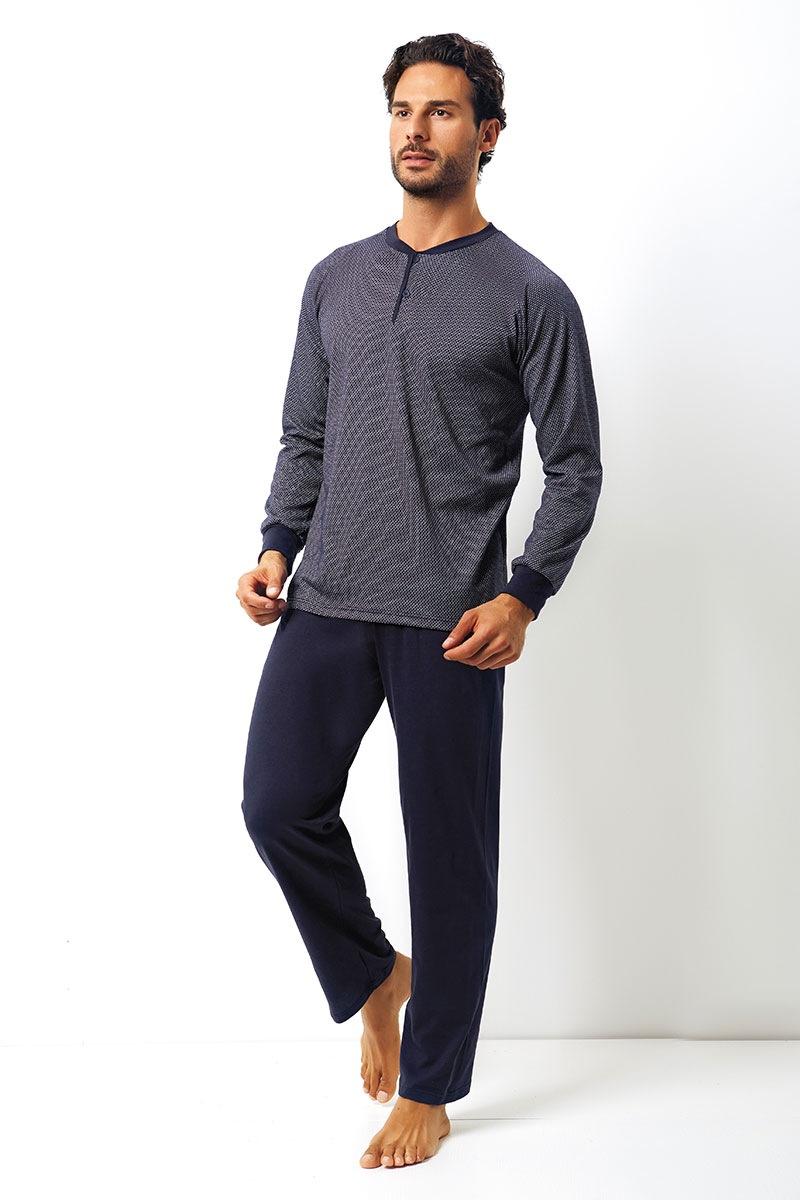 Męski komplet bawełniany Dante - bluza, spodnie - EP8011Blue_set