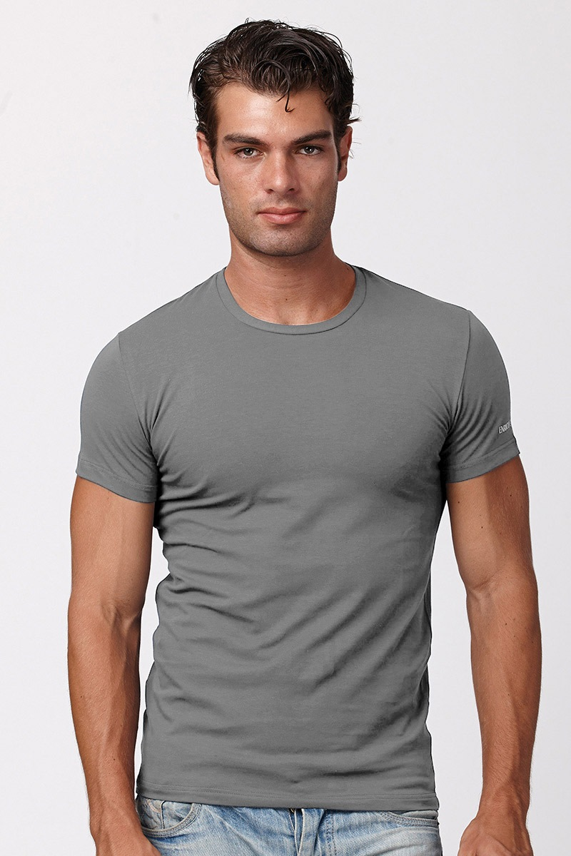 Męski bawełniany T-shirt Enrico Coveri 1000 - ET1000_tri