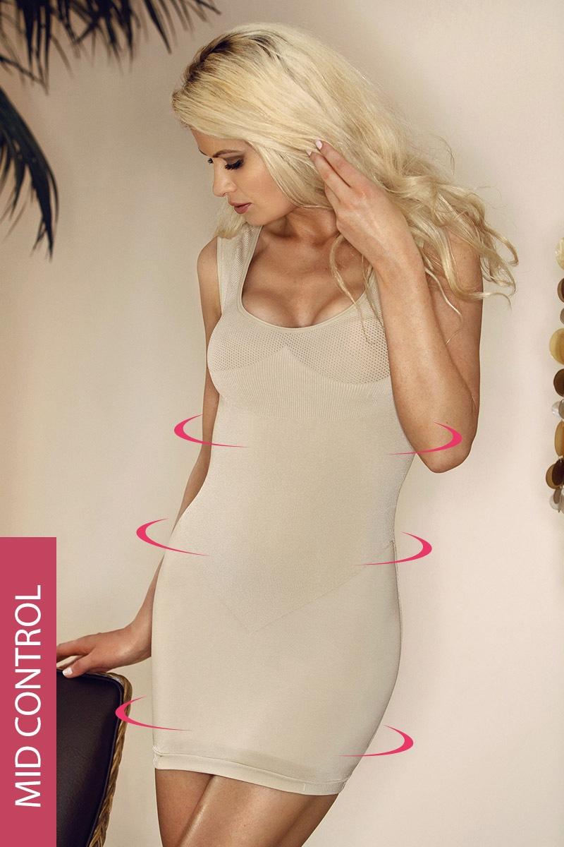 Mid-Wyszczplająca sukienka-szerokie ramiączka-6 720-MicroClima - Hanna_6720
