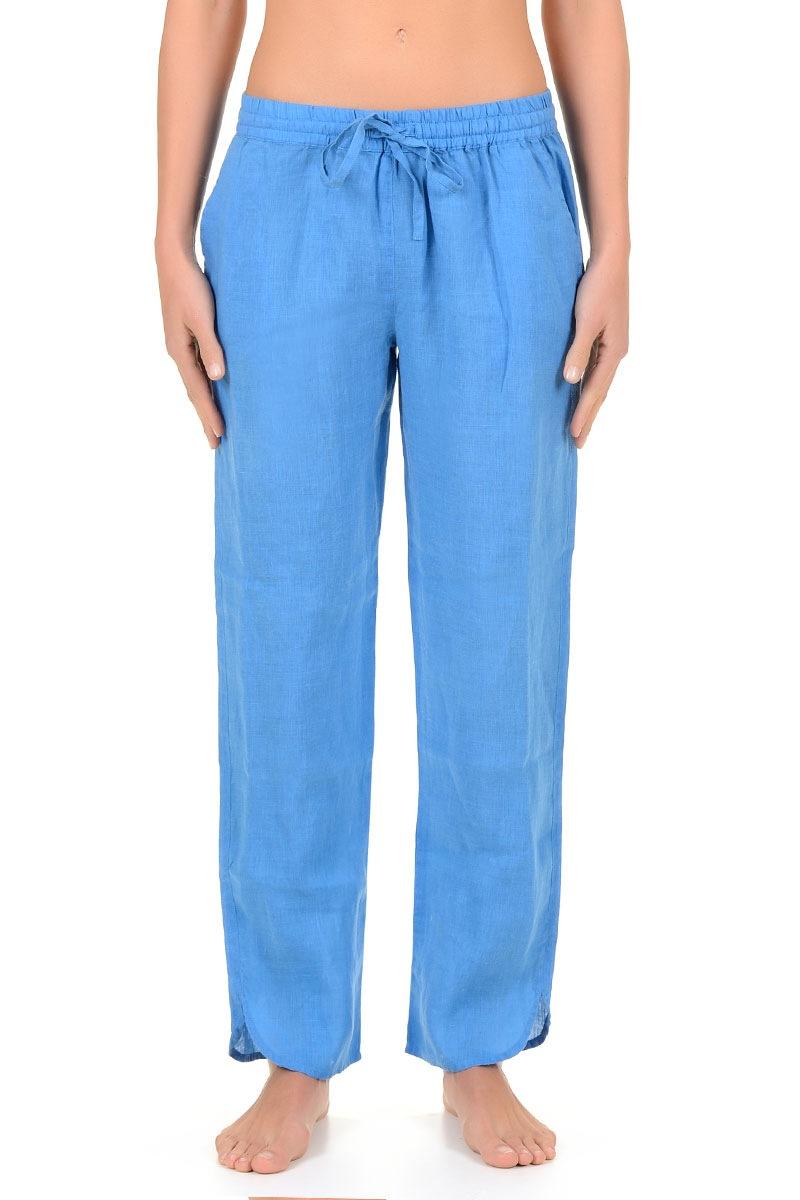 Letnie spodnie damskie Sherie Blue z kolekcji Iconique - IC7051Blu_kal