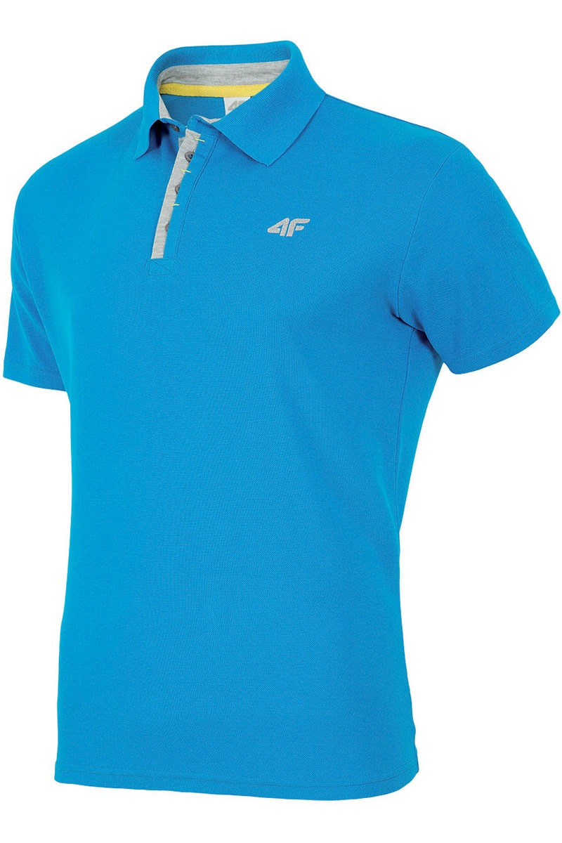 Męska koszulka sportowa typu polo - L16_TSM004_tri