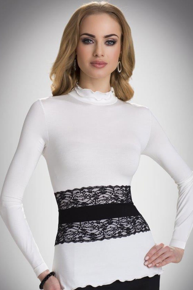 Damska bluzka ze stójką Lucrecia - Lucrecia_tri