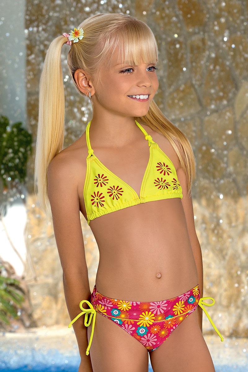 Dziecięcy kostium kąpielowy Flower M46 - M46