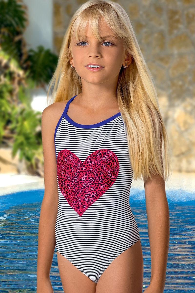 Dziewczęcy kostium kąpielowy Nikki M57 - M57