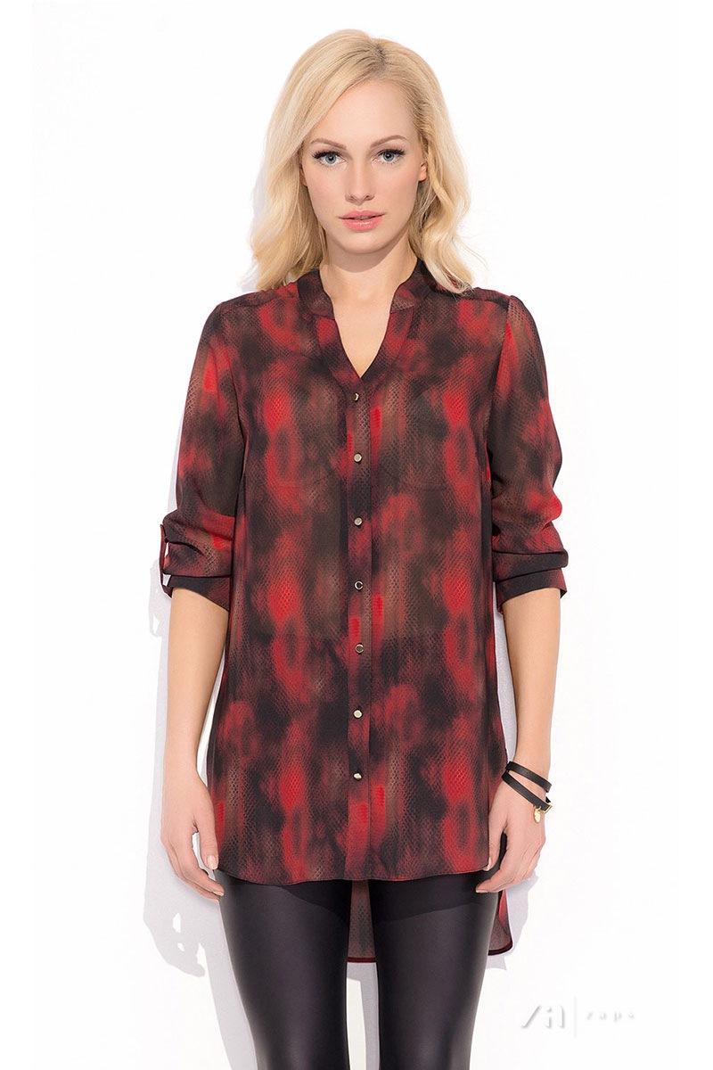 Damska bluzka koszulowa Merlina RED - Merlina002_hal