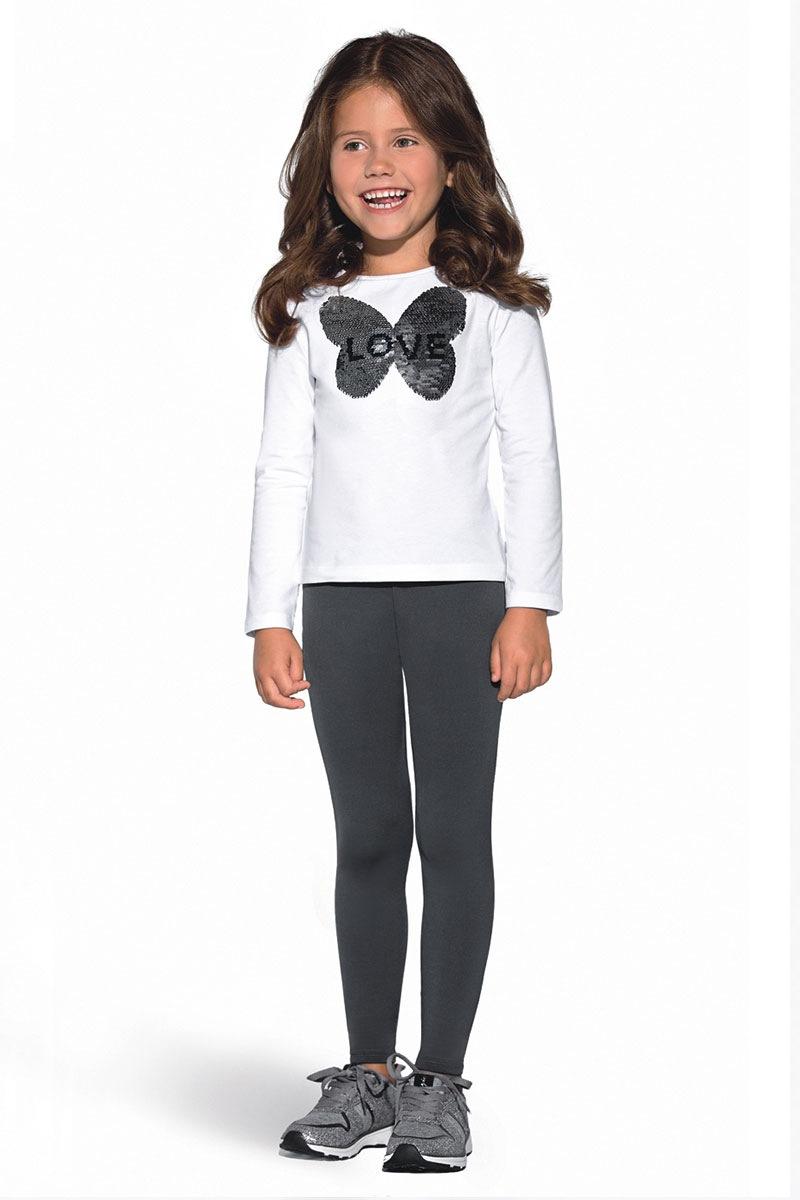 Jednobarwne dziecięce legginsy Mimi - Mimi_leg