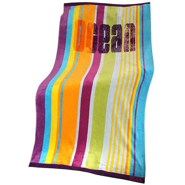 Ręcznik plażowy w pasy Ocean - Ocean_Plos