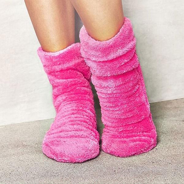 Ciepłe skarpetki Pink - Roz_pon