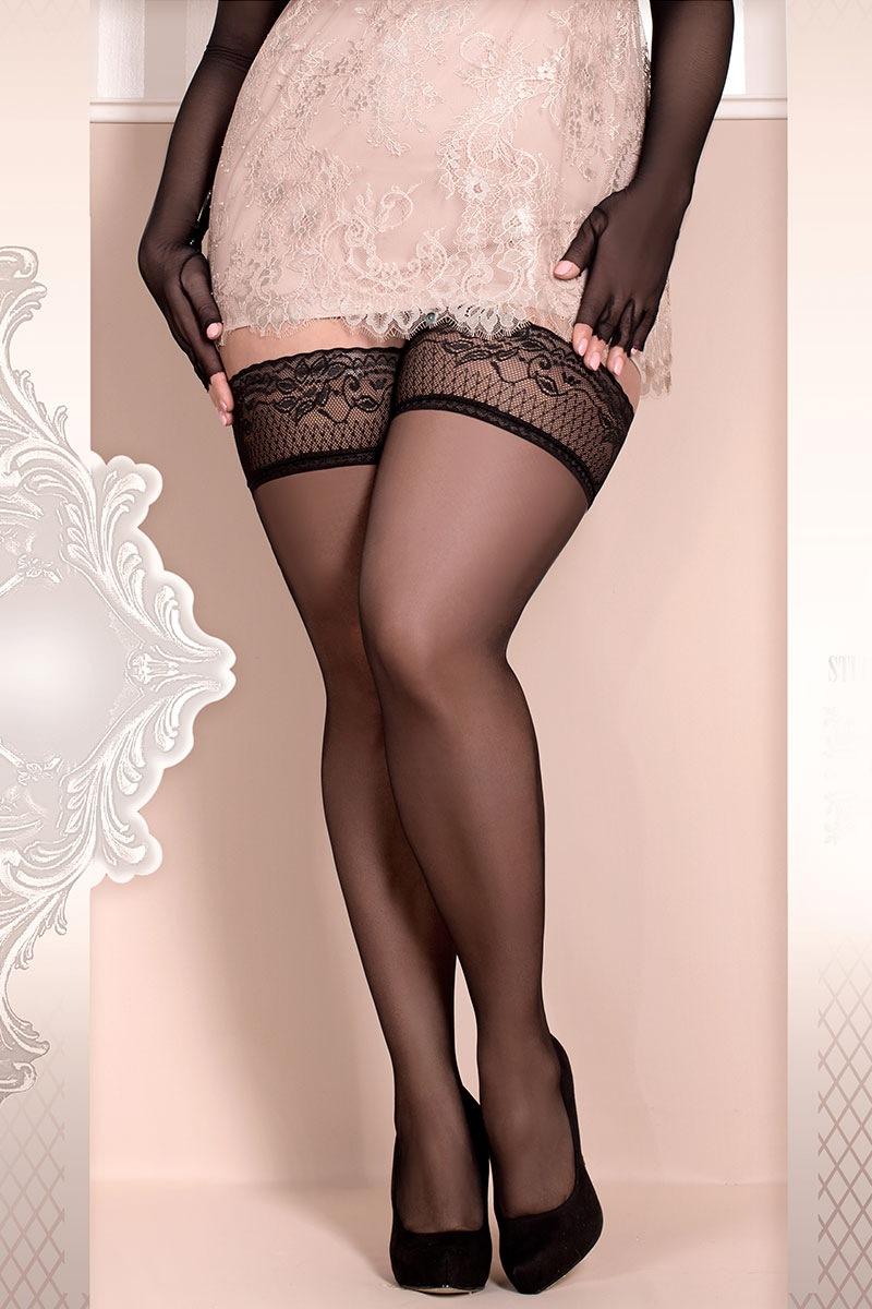 Luksusowe pończochy samonośne Soft Size 363 - SC363_pun