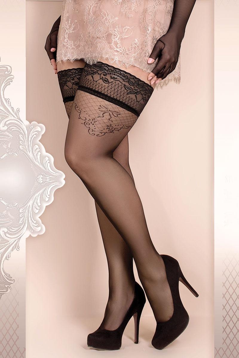 Luksusowe pończochy samonośne Soft Size 365 - SC365_pun