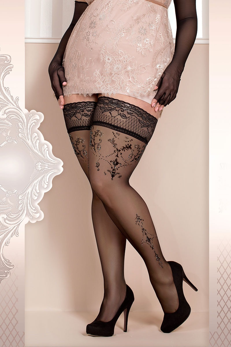 Luksusowe pończochy samonośne Soft Size 371 - SC371_pun