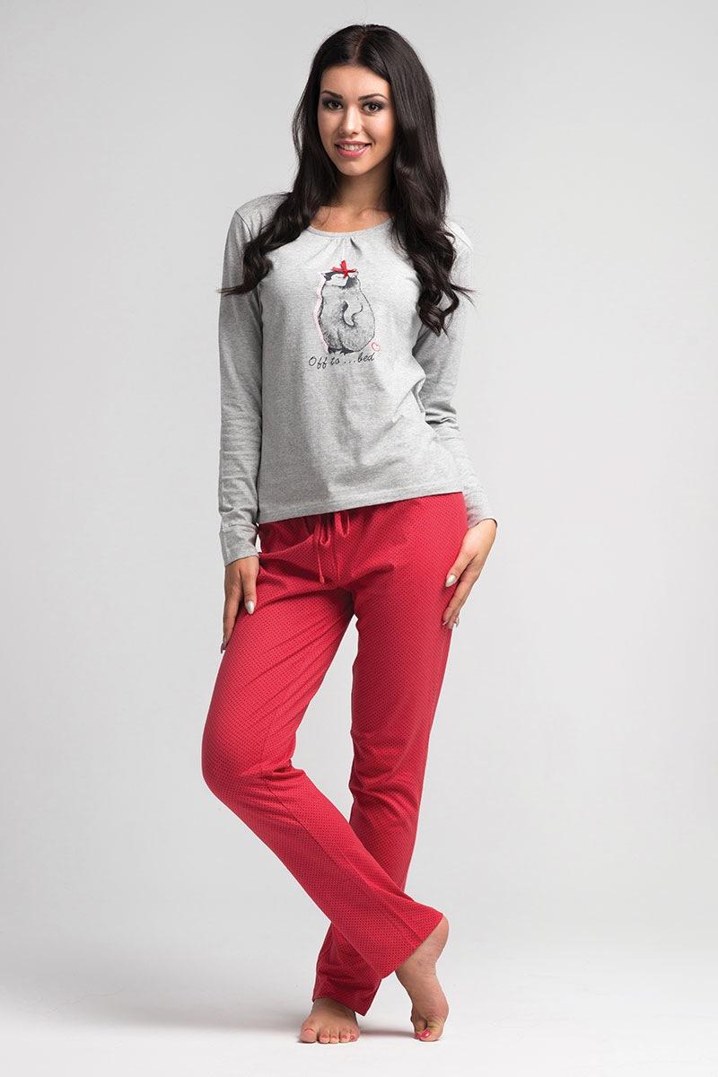Damska piżama Penguin - SalPy1021LightGrey_pyz
