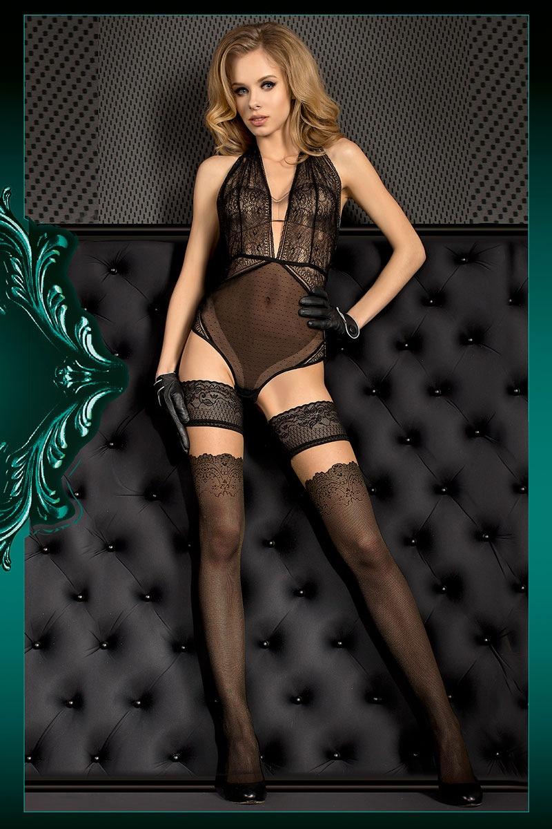 Luksusowe samonośne pończochy Smeraldo - Smeraldo386_pun