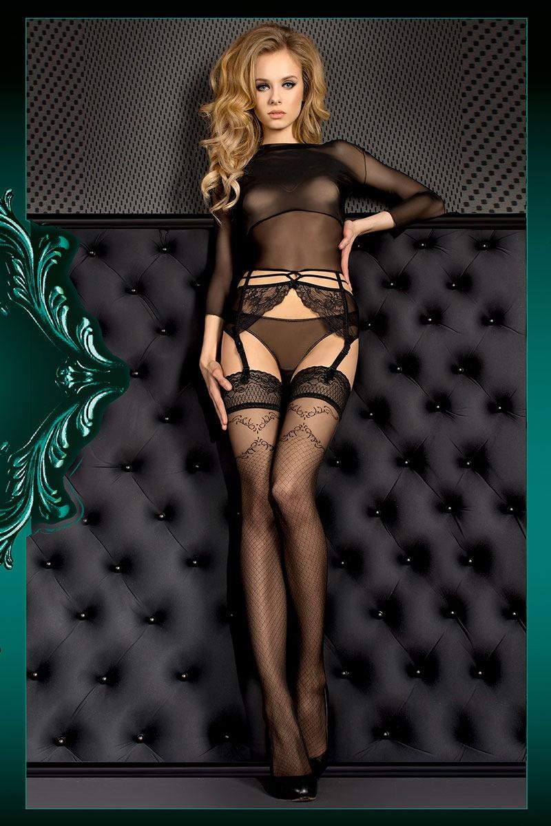 Luksusowe samonośne pończochy Smeraldo 390 - Smeraldo390_pun