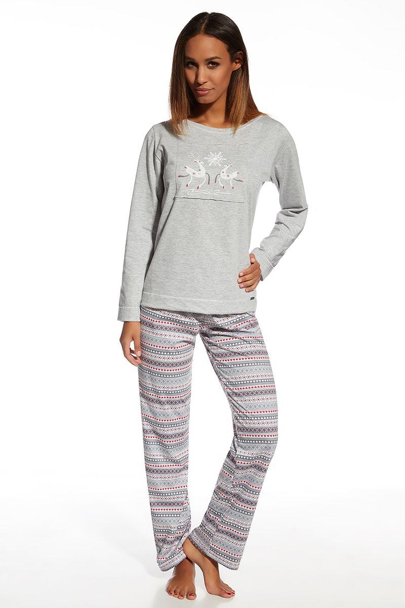 Damska piżama bawełniana Snowflake - Snowflake655105_pyz