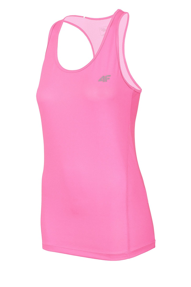 Damski top sportowy Dry Control 4F Pink - TSDF001_NP_tri
