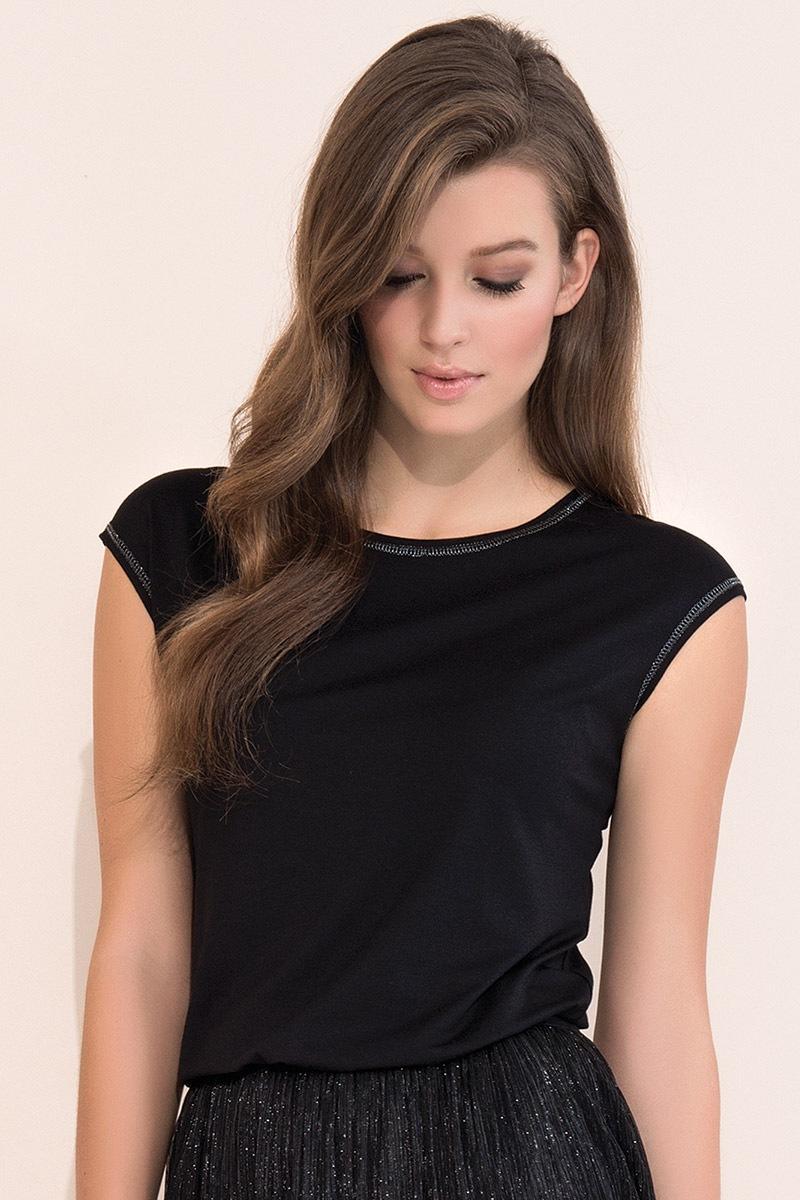 Elegancka damska bluzka Vivian Black - Vivian004_tri