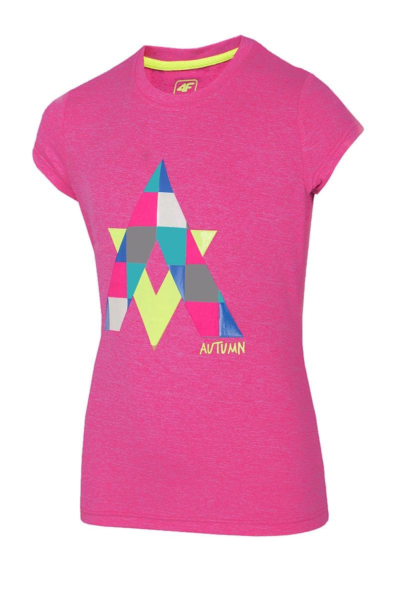 Koszulka dziewczęca Autumn Pink - Z16_JTSD001_tri