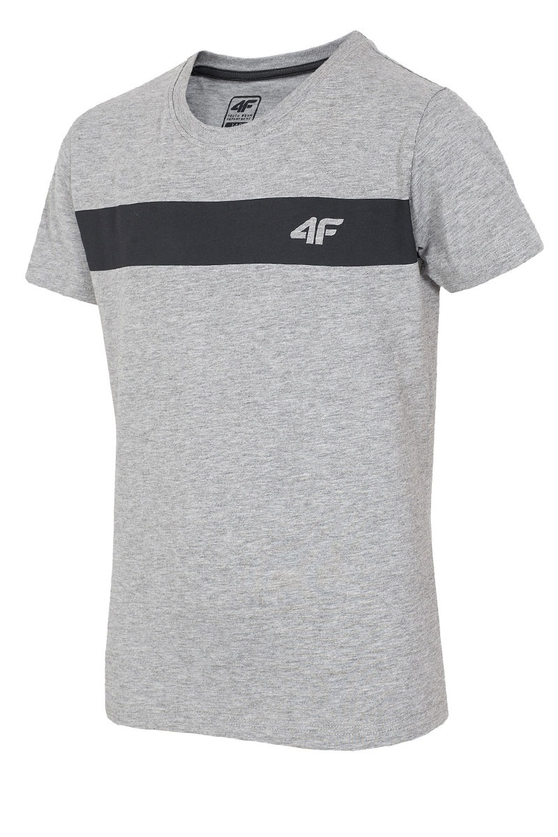 Dziecięcy T-shirt bawełniany Grey 4F - Z16_JTSM001_tri