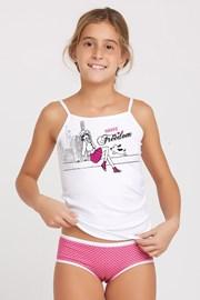 Dziecięcy komplet: figi i koszulka Marika Pink