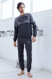 Męski dres bawełniany Valerio - szary